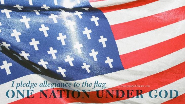 Cross Spangled Banner Wallpaper