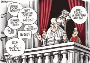 Pope Francis radical cartoon